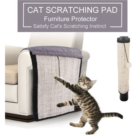 Pet cat scratch board beige handrail 29x117cm