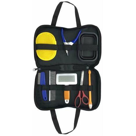 Pet Cleaning Set Reservisser Flea Comb Nail Cutter Complete Set Golden Golden Golden Grooming Kit Teddy (30 * 20 * 5)