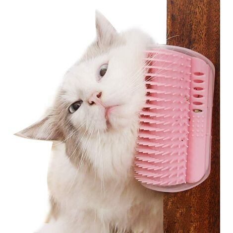"""main image of """"Pet Comb 2 Pieces Hello Kitty Pet Toilet Comb Corner Friction Device Pink Pet Massage Comb"""""""