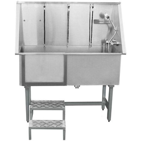 "main image of ""Pet Dog Bath Steel Tub Washing Station 400mm"""