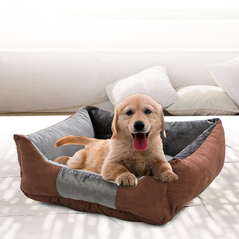 Pet Dog Bed Pet Sofa Dog Sleep Couch Cuddler Square Winter Warm Cotton Liner Waterproof Bottom Comfortable Cat Puppy Dog Bed