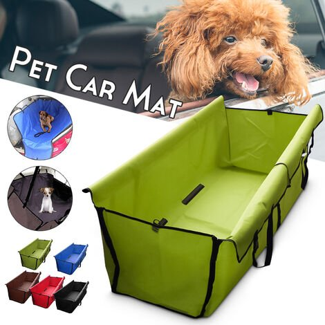 Pet Dog Cat Car Back Seat Waterproof Protective Mat Protector Hammock Cushion (Red)