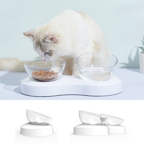 Pet Dog Cat Feeder Water Bowl Neck Protection Bowl 0