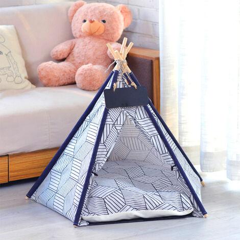 Pet Dog Cat Nest Bed Tent House Puppy Folding Kennel 50x50x60 cm Diamond