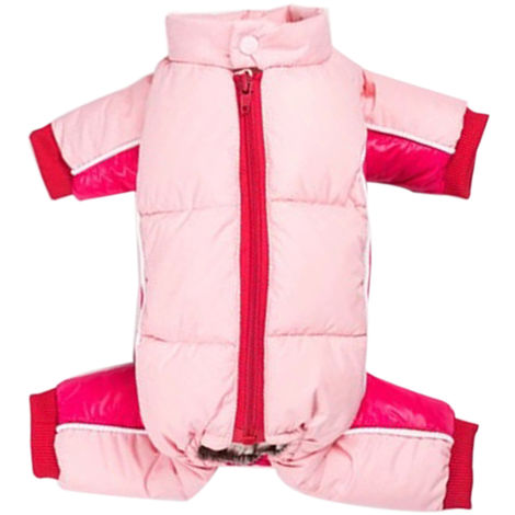 Pet Dog Clothes Winter Warm Jacket Small Dogs Pets Clothing Pink ,S