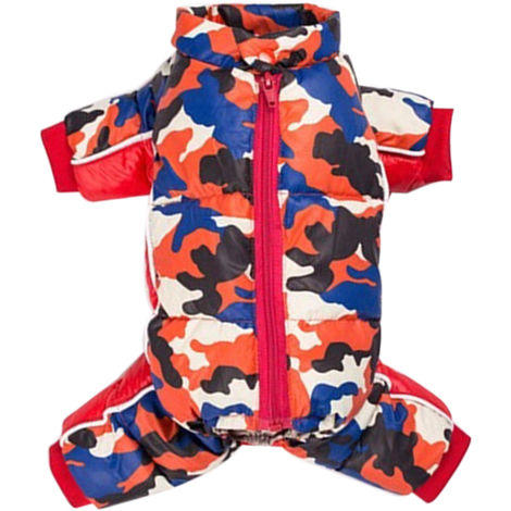 Pet Dog Clothes Winter Warm Jacket Small Dogs Pets Clothing Red , M