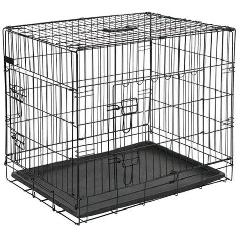 @Pet Dog Crate Metal 107x70x77.5 cm Black 15004