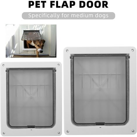 Pet Dog Door Safe Ferromagnetic Wall Entry Locking Automatically Close for Medium Dogs Puppies
