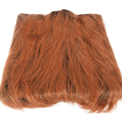 Pet Dog Lion Head Wig (Dark Brown Without Ears)