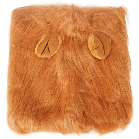Pet Dog Lion Head Wig (Light Brown with Ears)