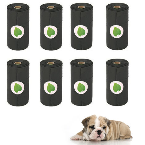 Pet Dog Poop Bag Rolls Dog Waste Bags Degradable 15 pcs Doggy Bags Per Roll(8 Rolls)
