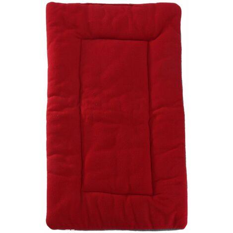 Pet Dog Puppy Cat Mat Warm Soft Pad Cushion Bed Fluffy Nest Pet Cushion (Winered, L)