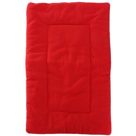 Pet Dog Puppy Cat Mat Warm Soft Pad Cushion Bed Nest Fluffy Pet Cushion (Red, XL)