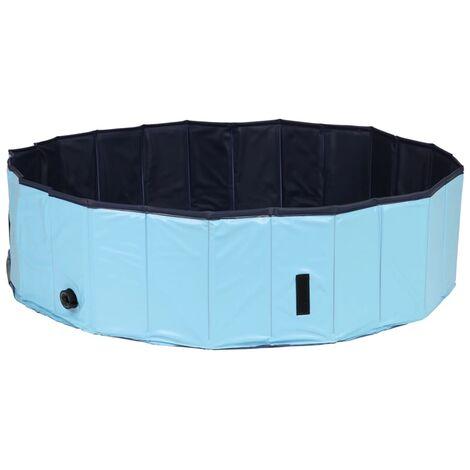 @Pet Dog Swimming Pool 120x30cm L Blue