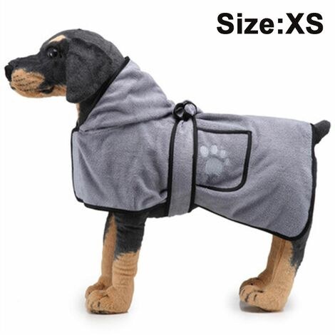 Pet Drying Towel Dog Blanket Microfibre Dog Bathrobe Puppy Cat Absorbent Quick Drying Towel Super Soft Bath Towel Machine Washable for Small, Medium, Large for Dog Cat, XS