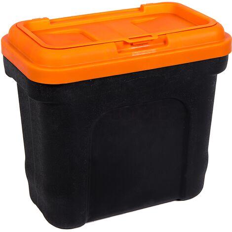 Pet Food Storage Container With Scoop, Black & Orange