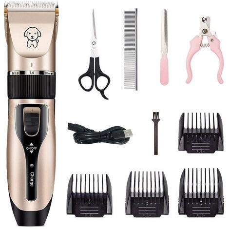 Pet Grooming Haarschneider Haarschneider Low Noise Hund Katze Kaninchen-Haar-Trimmer Cutter Baby-Haar-Scherer-USB aufladbare Rasierapparate Elektro Pet Professionelle Grooming Machine Tool
