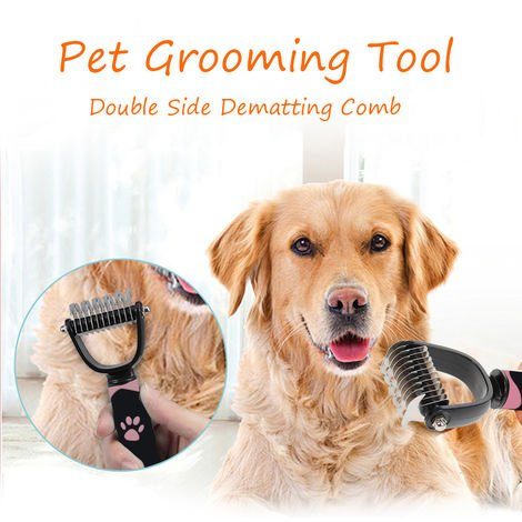 Pet Grooming Tool Double Side Dematting Comb Remove Tangles Shedding Brushes