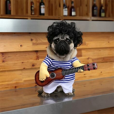 """main image of """"Pet Guitar Costume Dog Costumes Halloween Christmas Cosplay Party Funny Outfit Clothes(M)"""""""