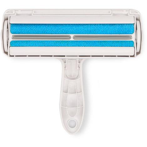 Pet Hair Remover de rodillos de retirada perro Hair Remover Pelo de animal Herramienta para Seat Muebles Sofa Alfombra Coche, Azul