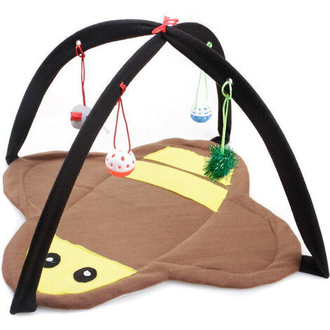 Pet Hammock Pet Tent Mobile Foldable Cat Tent Dog Puppy Houses Pad Blanket House Hammock Cat Tent Fleece For Pet Bed 64x44x4.5CM