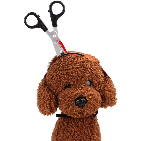 Pet Headgear Accessories, Horror Accessories, Black , Scissor M