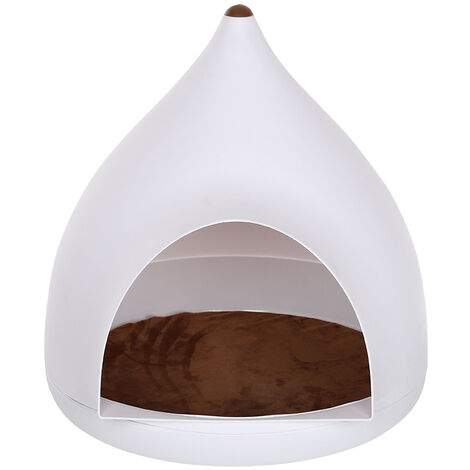 Pet House Cave Cat Puppy Dog Bed Stool Nest With Cushion