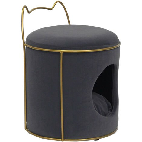 Pet Indoor House Cat Puppy Dog Bed Stool Nest Hideout Cave Igloo Hammock Cushion