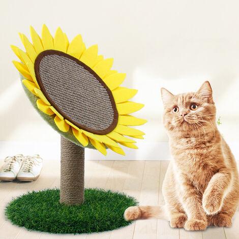 Pet Kitten Cat Sisal Scratching Board Sunflower Shape Scratcher Toy Durable