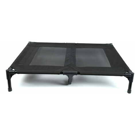 Pet Loft Bed Pet heat Dissipation Bed Non-slip Large Load Bearing Pet Bed 76*60*16CM Black