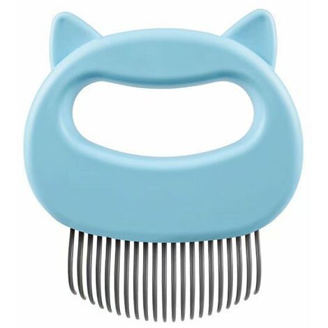 """main image of """"Pet Massage Comb Relaxation-Pet Grooming Comb Blue Cleaning Brush"""""""