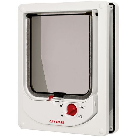 Pet Mate Electromagnetic Cat Flap (One Size) (White)