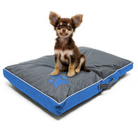 Pet mattress dog cushion dog bed Outdoor Washable blue L 85x55x8cm