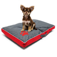 Pet mattress dog cushion dog bed Outdoor Washable red L 85x55x8cm