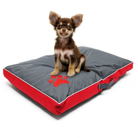 Pet mattress dog cushion dog bed Outdoor Washable red M 70x45x6cm