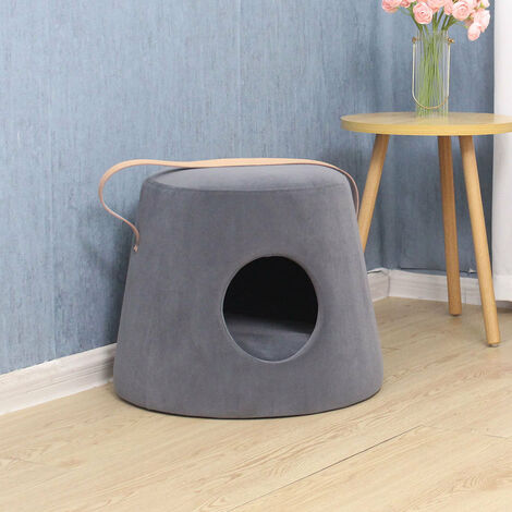 Pet Nest House Stool Sofa Cradle Cat little Dog Home Kennel Sleeping Bed