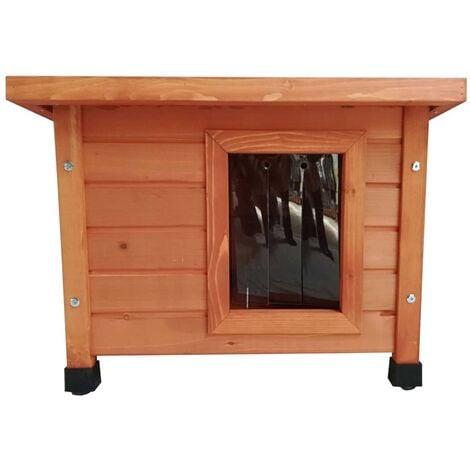 @Pet Outdoor Cat House Wood Brown - Brown
