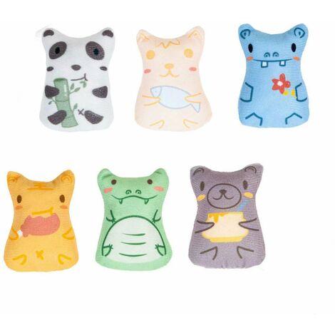 """main image of """"Pet products Cat toys Cat connotation catnip color scratch color cat toys 6 pieces set"""""""