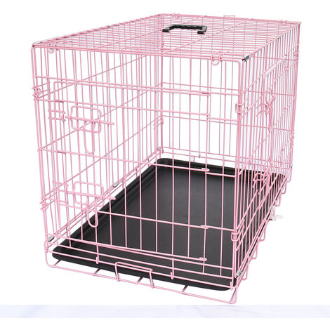 """main image of """"Pet Puppy Crate Folding Dog Training Travel Cage with Detachable Tray"""""""
