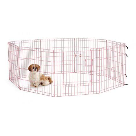 Pet Puppy Playpen Folding Dogs Cats Rabbits Run Cage 560x60 cm
