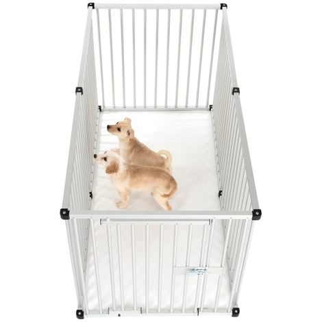 Pet Puppy Playpen Folding Dogs Cats Rabbits Run Cage 80 x H 80 cm ALUMINIUM