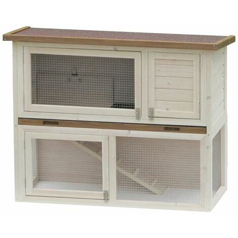 @Pet Rabbit Hutch Liberty Deluxe White 115x50x92 cm 20078 - Multicolour