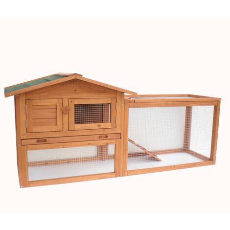 @Pet Rabbit Hutch Manou Brown 155x53x70cm