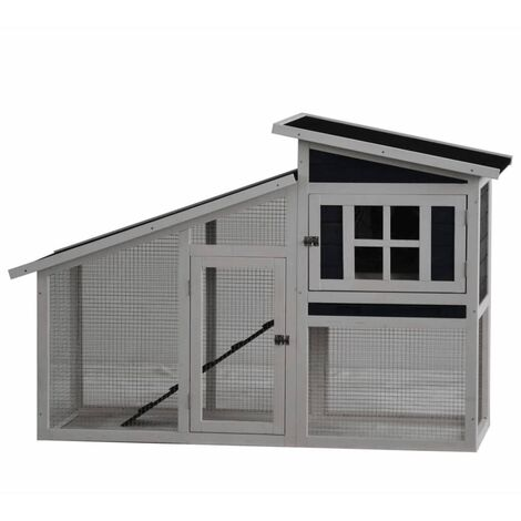 @Pet Rabbit Hutch Rome Wood 152x60x96 cm White 20116
