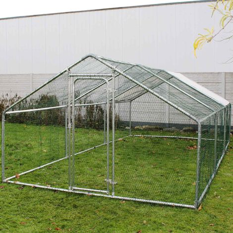 Pet run outdoor pet playpen enclosure Aviary chicken coop sunshade 4x3x2m