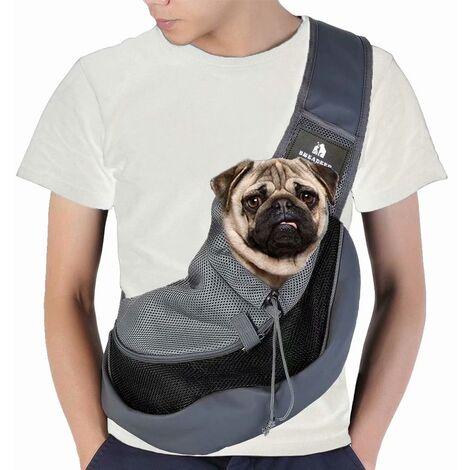 Pet Shoulder Bag, Small Cat Shoulder Bag For Travel, No Luggage In Advance, Chest Scarf, Breathable Fillet Bag (Large Size, Black)