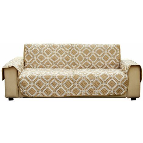 Pet Sofa Cover Non-slip Reclining Cushion Comforter Throws Sofa Furniture Protector Mat (Beige, 2 Seater)