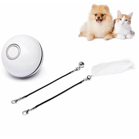 Pet Toy Funny Toy For Cat Ball Laser USB Smart Charge Ball Random Color Founting Bright Bearing