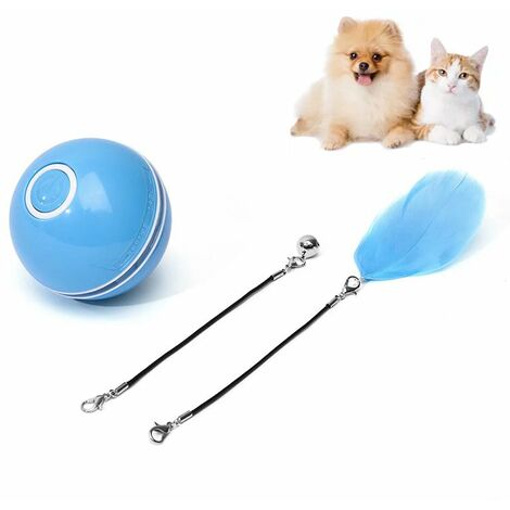 Pet Toy Funny Toy For Chat USB Laser Ball Loading Intelligent Random Ball is a Glowing Fountain Bearing Ball