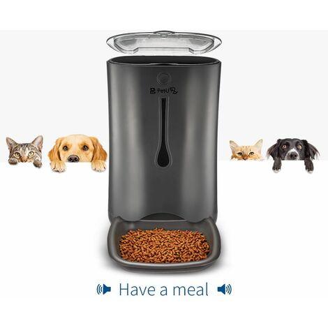 Pet-U Distributeur Croquettes pour Chats et Chiens-- Gamelle Automatique Alimentation Animaux Réservoir 7L